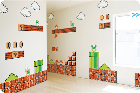 Stickers muraux super mario bros macintom for Collant mural