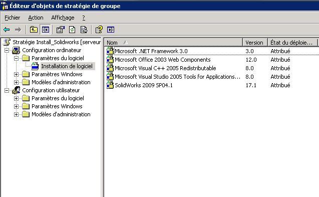 installer le fichier msi via la stratégie de groupe