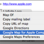 Google Maps Plugin pour le carnet d&#039;adresses de Mac OS X