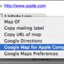 Google Maps Plugin pour le carnet d'adresses de Mac OS X
