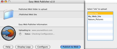 Easy iWeb Publisher : Uploader vos sites iWeb via Ftp