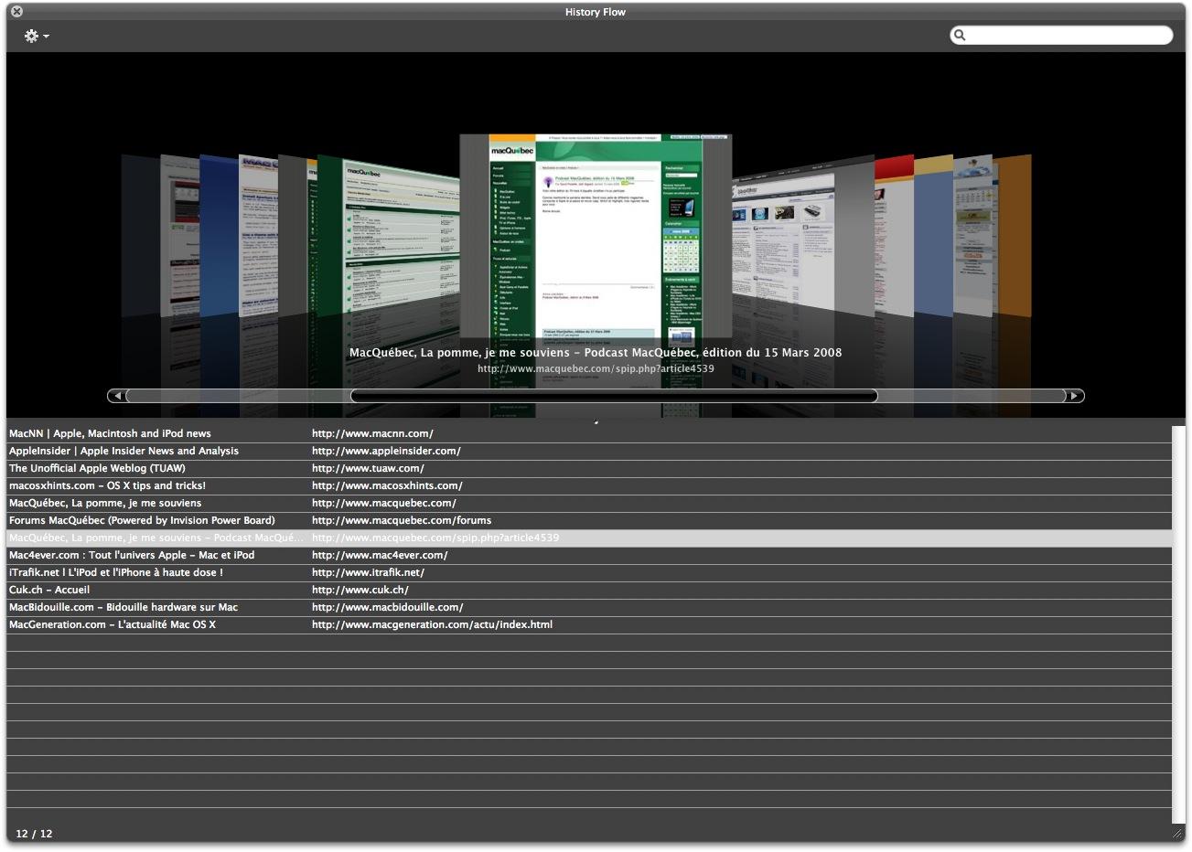 SIMBL + SafariStand = CoverFlow dans Safari