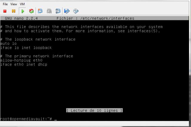 Configuration Manuelle de l'IP du NAS