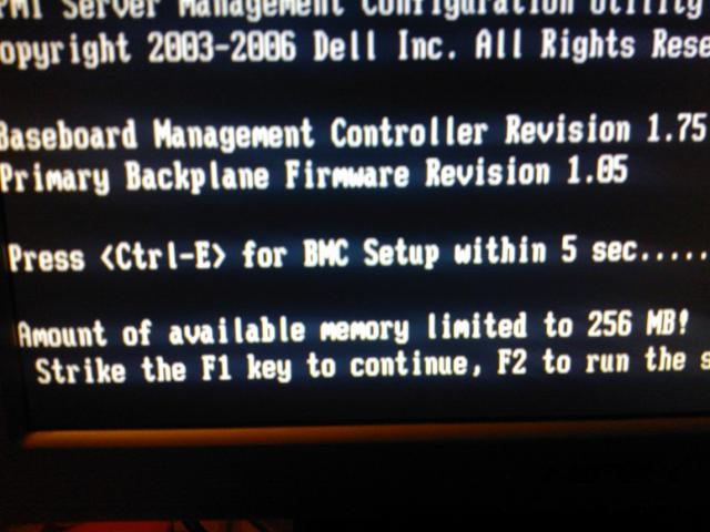 amount of available memory limited to 256mb